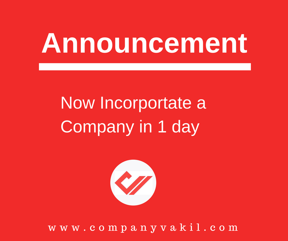 company registration in one day