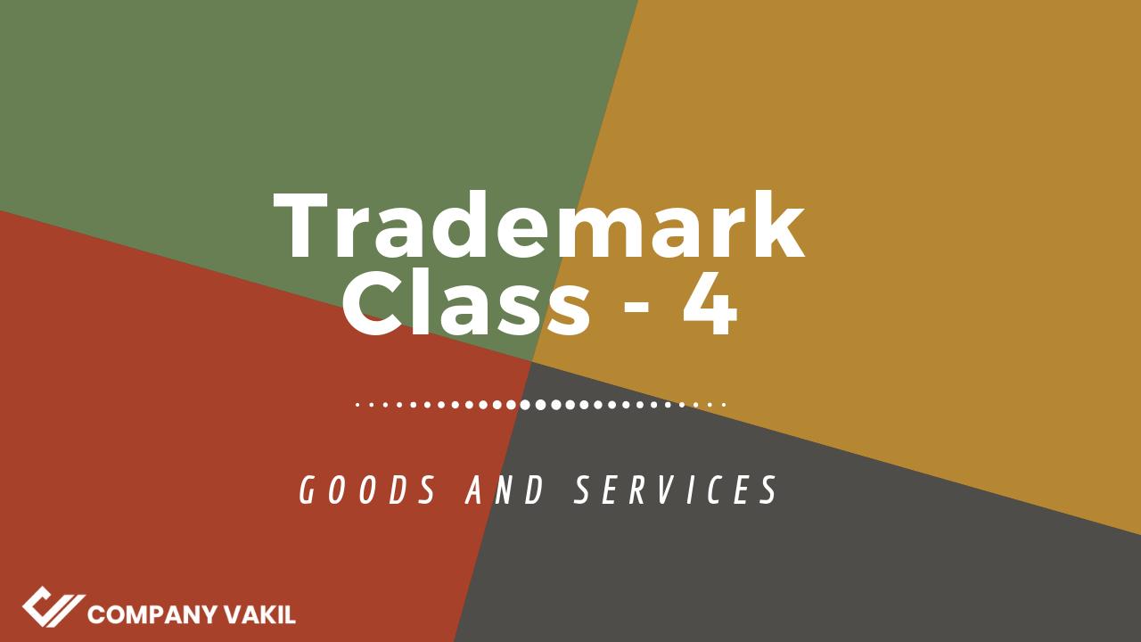 Trademark classes 4