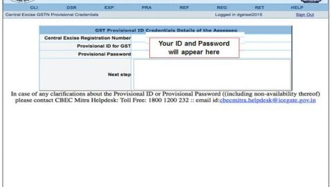 GST Provisional ID Not Generated or Not Working, Solved