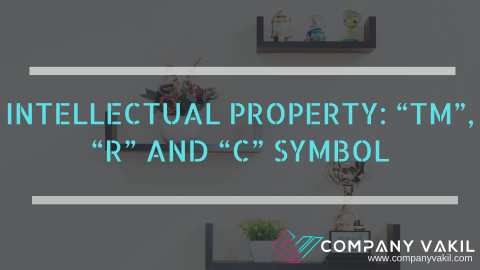 "INTELLECTUAL PROPERTY: ""TM"", ""R"" AND ""C"" SYMBOL"