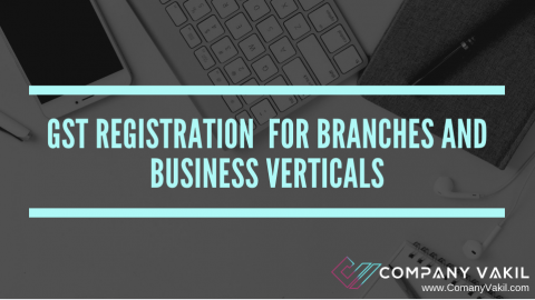 GST REGISTRATION FOR BRANCHES AND BUSINESS VERTICALS