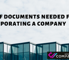 LIST OF DOCUMENTS NEEDED FOR INCORPORATING A COMPANY