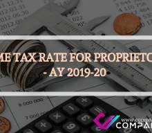 INCOME TAX RATE FOR PROPRIETORSHIP- AY 2019-20