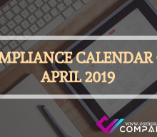 COMPLIANCE CALENDAR OF APRIL 2019
