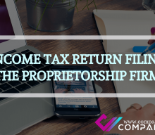 THE INCOME TAX RETURN FILING FOR THE PROPRIETORSHIP FIRM